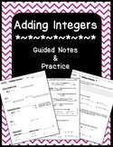 Guided Notes & Practice on Adding Integers