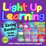 8th Grade Math Guided Notes Pre Algebra Color Coded BUNDLE
