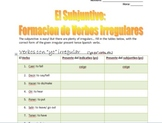 Spanish Notes: Present Subjunctive Irregulars - Presente del Subjuntivo