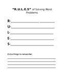 Guided Notes- R.U.L.E.S for Solving Word Problems