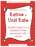 Guided Notes: Ratios and Unit Rate