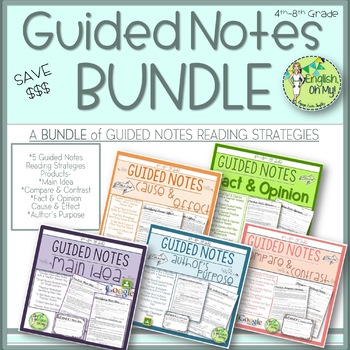 Guided Notes, Reading Strategies, Reading Comprehension