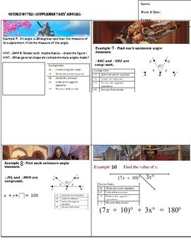 Guided Notes.Supplementary Angles