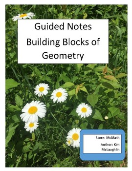 Guided Notes: Tools of Geometry
