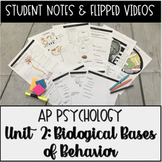 Student Notes & Flipped Videos: Biological Bases AP Psychology