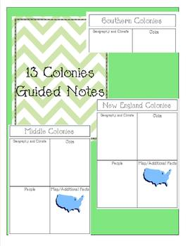 Guided Notes for 13 Colonies
