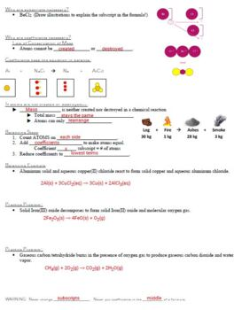 Guided Notes for Chemical Reactions Powerpoint for General Chemistry