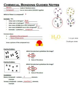 Guided Notes for Ionic and Covalent Bonding (Chemical Bonding) Powerpoint