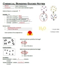 Guided Notes for Ionic and Covalent Bonding (Chemical Bond