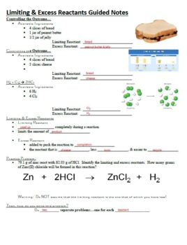 Guided Notes for Limiting Reactant Powerpoint for General Chemistry