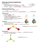Guided Notes for Molecular Polarity PowerPoint (for General Chemistry)
