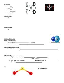 Guided Notes for Molecular Structure (Lewis Dot) Powerpoint General Chemistry