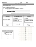 Guided Notes for Systems of Equations