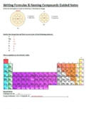 Guided Notes for Writing Formulas & Naming Compounds Powerpoint for Gen Chem