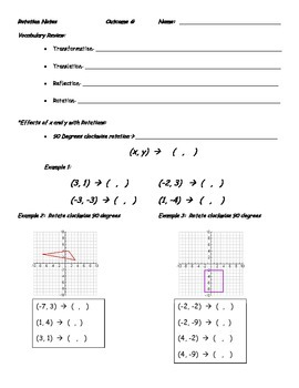 Guided Notes of Rotation of Geometric Figures