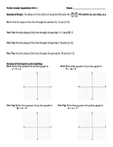 Guided Notes on Graphing Linear Equations