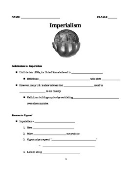 Guided Notes on U.S. Imperialism