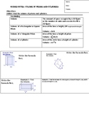 Guided Notes on Volume of Prisms and Cylinders