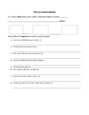 Guided Notes sheet: continuing passé composé (negation)