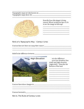 Guided Notes/Do Now: Introduction to Topographic Maps