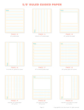 Guided Paper – Writing and Story Paper with Spacing Guides