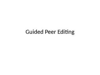 Guided Peer Editing