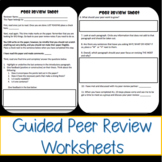 Guided Peer Review Sheets
