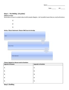 Guided Persuasive Essay Outline