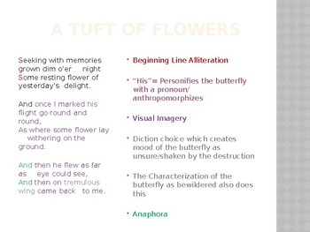 Guided Poetry Annotations for Frost's The Tuft of Flowers