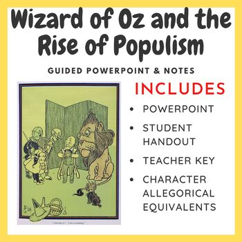 Guided PowerPoint & Notes: Wizard of Oz and the Rise of Populism
