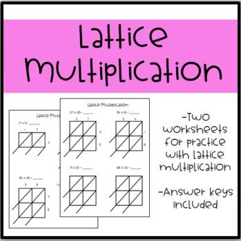 Guided Practice Worksheet for Lattice Multiplication