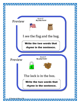 Guided Reader: Sight Words  Rhyme, Read and Write - My Little Reader Book #1