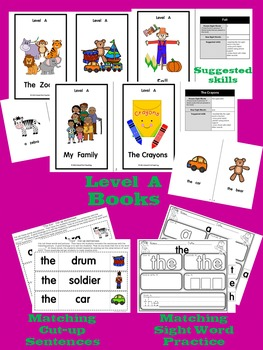 Guided Reading:15 Sequenced Books + Rebuilding Sentences and Sight Word Work