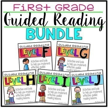Guided Reading ~ 1st GRADE BUNDLE Levels F-J