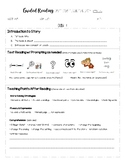 Guided Reading 2 Day Lesson Plan - Early Levels D-I (Modif