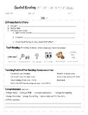 Guided Reading 2 Day Lesson Plan - Emergent Levels A-C (Modified Jan Richardson)
