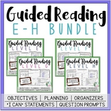 Guided Reading Lesson Plans Bundle Levels E-H