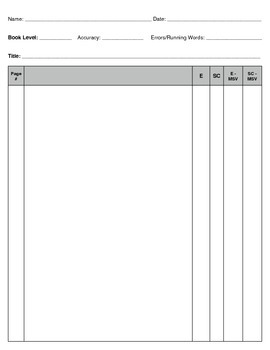 Guided Reading 3-Day Lesson Template for Emergent Readers