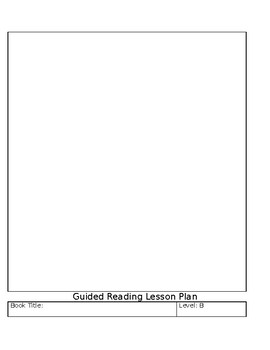 Guided Reading A-K Template