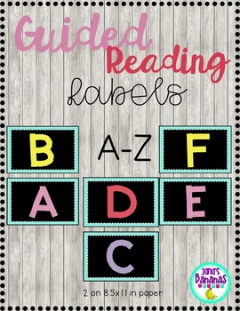 Guided Reading (A-Z) Classroom Library Labels