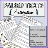 Reading Passages and questions- ANTARCTICA.Paired texts:Captain Scott & penguins