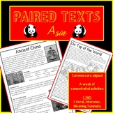 Reading Passages and questions- ASIA. Paired texts:Mount Everest & Ancient China