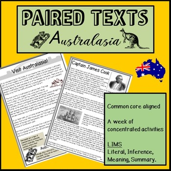 Reading Passages and questions- AUSTRALASIA.Paired texts: Tourism & Captain Cook