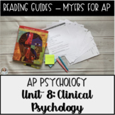 Guided Reading: Abnormal Psychology & Treatment Myers' Psychology for AP