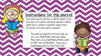 Guided Reading Activities For Fiction