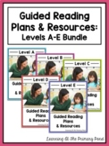 Guided Reading Activities and Lesson Plans - Levels A Through E BUNDLE