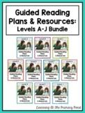 Guided Reading Lesson Plans, Books, & Activities Bundle {Levels A-J}