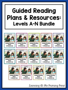 Guided Reading Activities and Lesson Plans - Levels A Through N BUNDLE