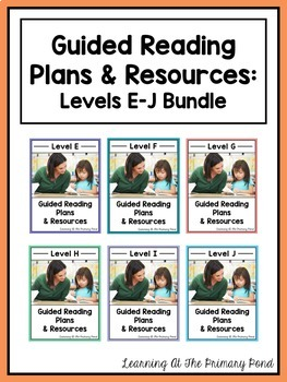 Guided Reading for First Grade: Lesson Plans, Books, & Activities {Levels E-J}
