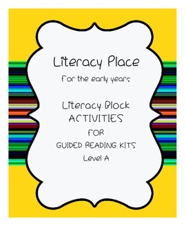 Guided Reading Activities for Level A Books